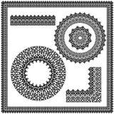 Insieme degli ornamenti del quadrato e della circolare Fotografia Stock