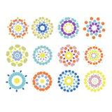 Insieme degli ornamenti floreali per la vostra progettazione Fotografia Stock