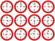 Insieme degli orologi Fotografia Stock Libera da Diritti
