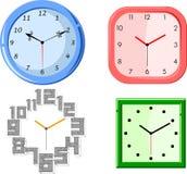 Insieme degli orologi Immagini Stock