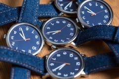 Insieme degli orologi Immagini Stock Libere da Diritti