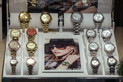 Insieme degli orologi di lusso Fotografia Stock Libera da Diritti