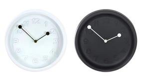 Insieme degli orologi di parete rotondi moderni Fotografia Stock