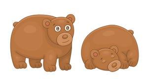 Insieme degli orsi bruni illustrazione vettoriale
