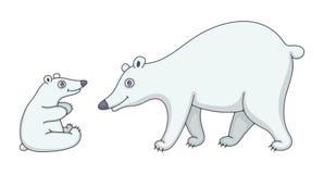 Insieme degli orsi polari illustrazione di stock