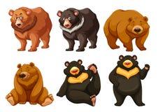 Insieme degli orsi svegli illustrazione vettoriale