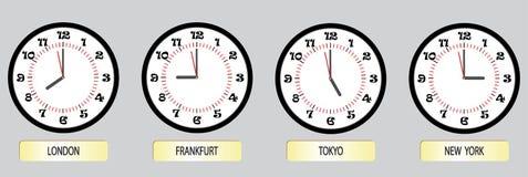 Insieme degli scambi di orologio Fotografie Stock Libere da Diritti
