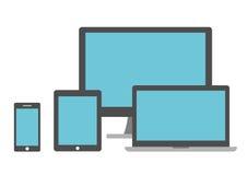 Insieme degli schermi Fotografie Stock Libere da Diritti