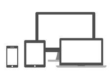Insieme degli schermi Fotografia Stock