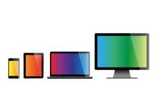 Insieme degli schermi Fotografia Stock Libera da Diritti