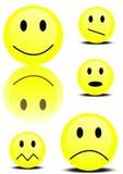 Insieme degli smiley Immagine Stock Libera da Diritti
