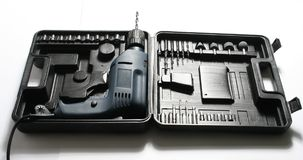 Insieme degli strumenti della costruzione fotografie stock libere da diritti