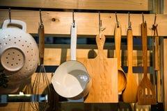 Insieme degli strumenti della cucina Fotografia Stock