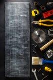 Insieme degli strumenti e degli strumenti Immagini Stock