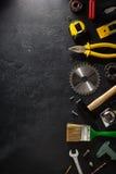Insieme degli strumenti e degli strumenti Fotografia Stock