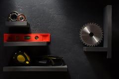 Insieme degli strumenti e degli strumenti Fotografia Stock Libera da Diritti