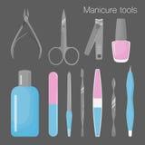 Insieme degli strumenti per il manicure Fotografia Stock