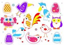 Insieme degli uccelli per i bambini Fotografia Stock