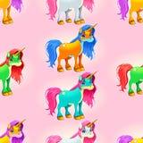 Insieme degli unicorni svegli Fotografia Stock Libera da Diritti
