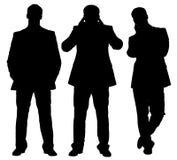 Insieme degli uomini d'affari annoiati Immagine Stock Libera da Diritti