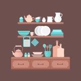 Insieme degli utensili della cucina Fotografia Stock