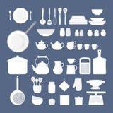 Insieme degli utensili della cucina Fotografia Stock Libera da Diritti