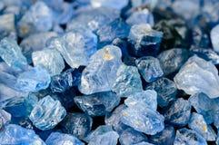 Insieme degli zaffiri blu Immagini Stock