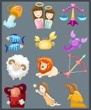 Insieme degli zodiaci del segno Immagine Stock Libera da Diritti