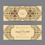 Insieme dei biglietti da visita, degli inviti e dei modelli delle carte con bacca Immagini Stock