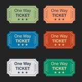 Insieme dei biglietti di vettore Immagini Stock Libere da Diritti