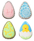 Insieme dei biscotti casalinghi di Pasqua Fotografia Stock