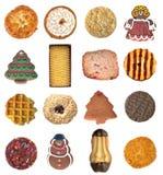 Insieme dei biscotti delle forme e dei sapori differenti Fotografia Stock Libera da Diritti