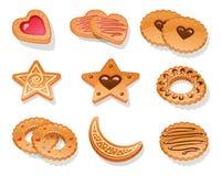 Insieme dei biscotti differenti Fotografia Stock Libera da Diritti