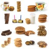 Insieme dei biscotti e delle caramelle Fotografia Stock Libera da Diritti