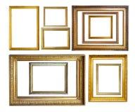Insieme dei bordi della maschera dell'oro dell'annata Fotografie Stock