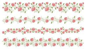 Insieme dei bordi delle rose Fotografia Stock Libera da Diritti