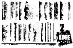 Insieme dei bordi di Grunge Fotografie Stock Libere da Diritti