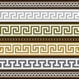 Insieme dei bordi geometrici greci Immagini Stock Libere da Diritti