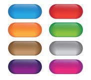 Insieme dei bottoni colorati di web Fotografia Stock