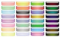 Insieme dei bottoni colorati di web Fotografie Stock