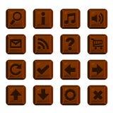 Insieme dei bottoni del cioccolato con differenti forme Fotografia Stock Libera da Diritti