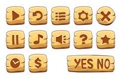 Insieme dei bottoni del quadrato dell'oro Fotografia Stock