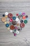 Insieme dei bottoni dell'annata Fotografie Stock