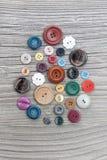 Insieme dei bottoni dell'annata Fotografie Stock Libere da Diritti