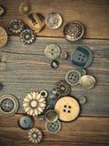 Insieme dei bottoni dell'annata Fotografia Stock Libera da Diritti