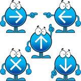 Insieme dei bottoni della freccia del fumetto Immagini Stock
