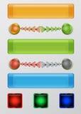 Insieme dei bottoni, delle palle e delle frecce di web Fotografia Stock Libera da Diritti