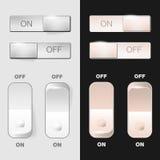 Insieme dei bottoni di interruttore on-off Fotografia Stock Libera da Diritti
