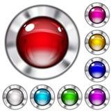 Insieme dei bottoni di vetro opachi Immagini Stock
