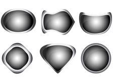 Insieme dei bottoni grigi di web Immagini Stock Libere da Diritti